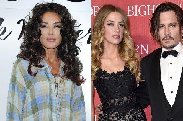 Eva Minge, Amber Heard i Johnny Depp