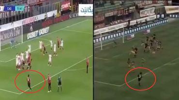 Sandro Tonali (z lewej) i Andrea Pirlo (z prawej) wykonujący rzut wolny w barwach AC Milan. Źródło: Twitter