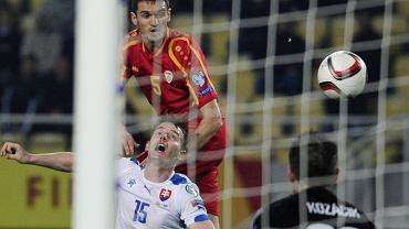 Daniel Mojsov w meczu Macedonia - Słowacja