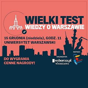 Wielki Test Wiedzy o Warszawie