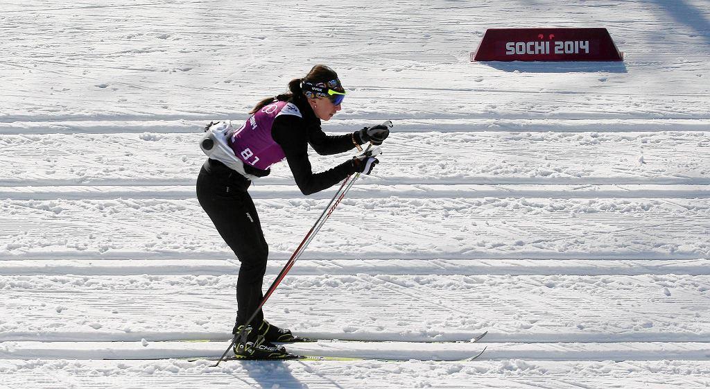 Justyna Kowalczyk na treningach w Soczi