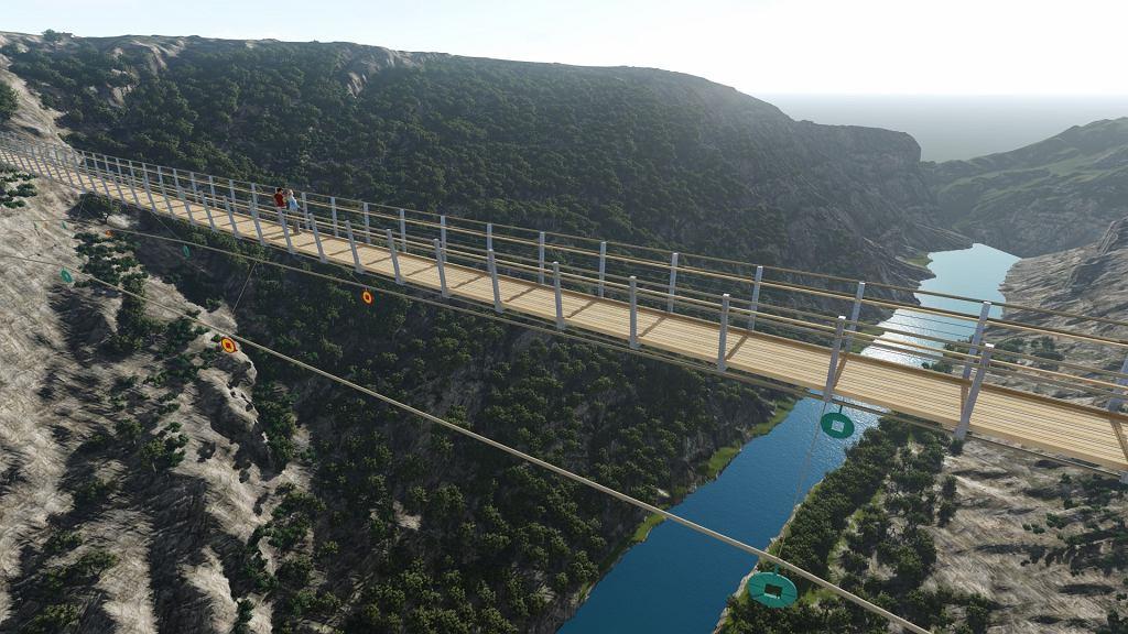 W Chorwacji powstanie most wiszący dla pieszych. Nad kilkuset metrową przepaścią