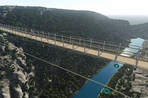 W Chorwacji nad przepaścią powstanie wiszący most dla pieszych. Jeden z najdłuższych na świecie