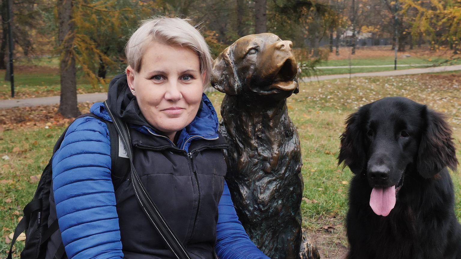 Alena Beszter i Blant, wolontariusze Stowarzyszenia Zwierzęta Ludziom