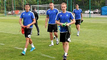 Maciej Urbańczyk podczas treningu Ruchu Chorzów