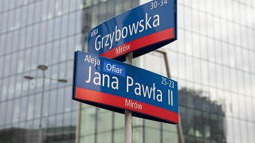 Zmieniona nazwa ulicy na Aleję Ofiar Jana Pawła II w Warszawie