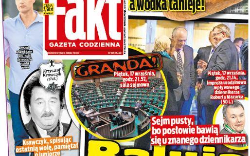 """Urodziny u Roberta Mazurka. """"Fakt"""" pokazał zdjęcia, dziennikarz tłumaczy"""
