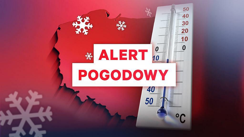 Alert pogodowy. Oblodzenie, śnieg, silny wiatr. Uważajmy na drogach