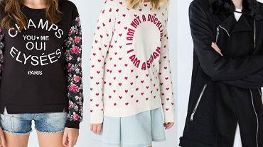 Nowości Bershka - swetry, płaszcze i koszule