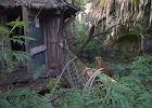 Opuszczony park rozrywki Disneya w ruinie. Wygląda jak z horroru