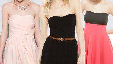 Sukienki bez ramiączek na upalne dni