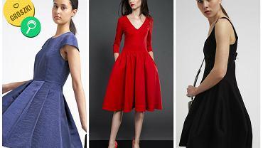 Rozkloszowane sukienki ze sklepów internetowych