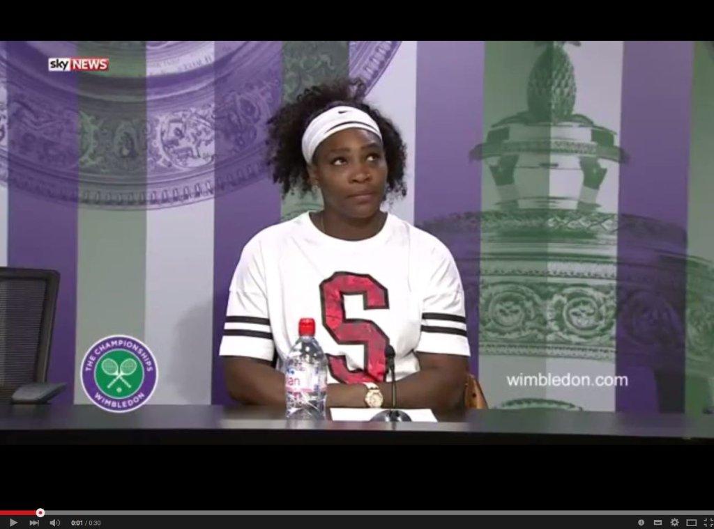 Wimbledon 2015. Serena Williams podczas konferencji prasowej
