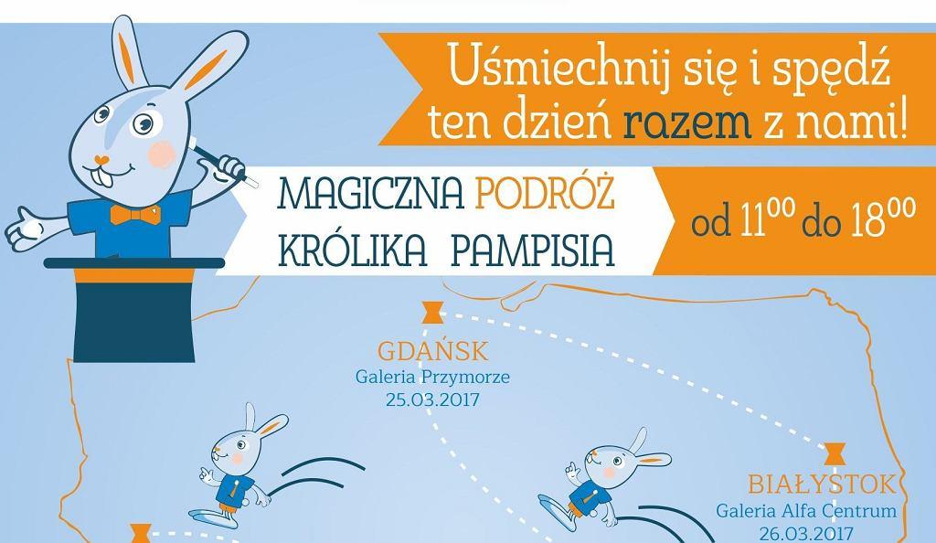 Magiczna podróż Królika Pampisia - plakat