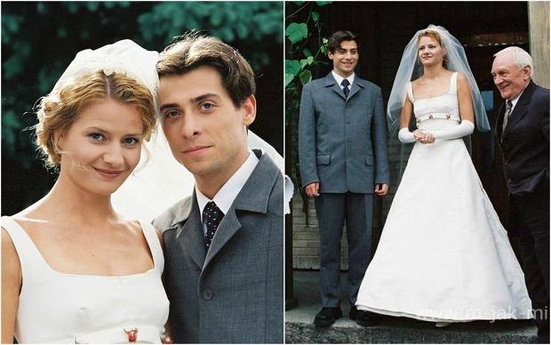 'M jak miłość'. Ślub Marka (Kacper Kuszewski) i Hanki (Małgorzata Kożuchowska) był pierwszym, jaki został zawarty w serialu 'M jak miłość'.