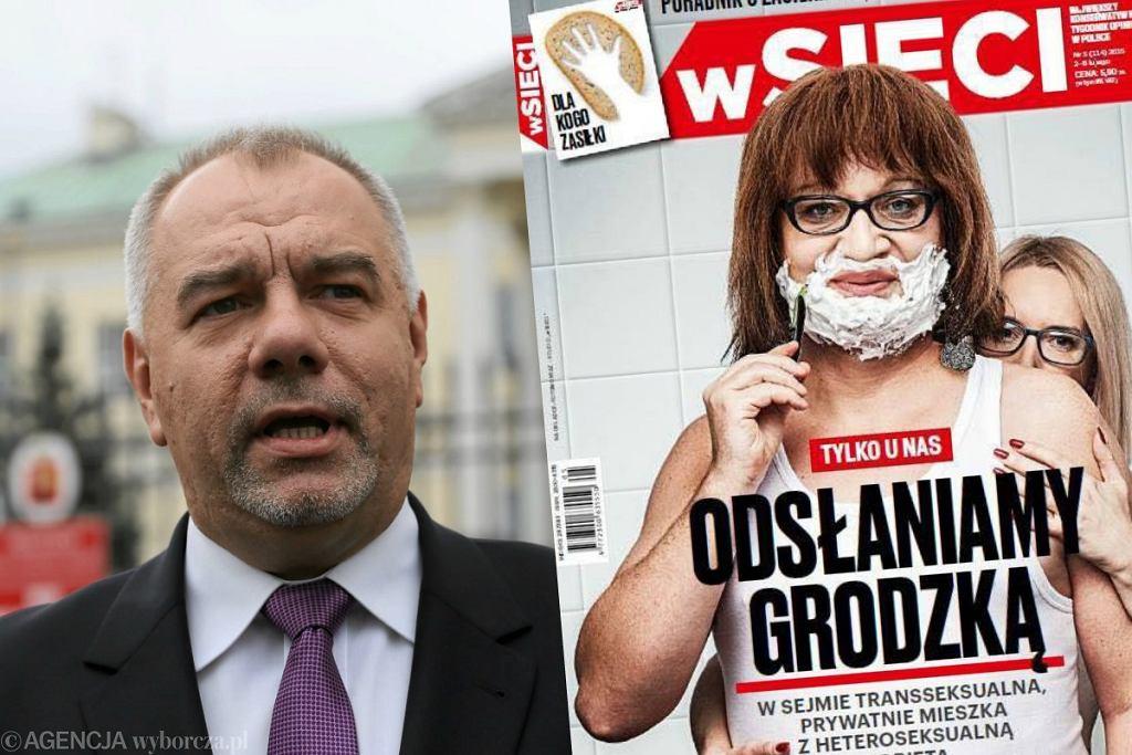Jacek Sasin broni tekstu o Annie Grodzkiej