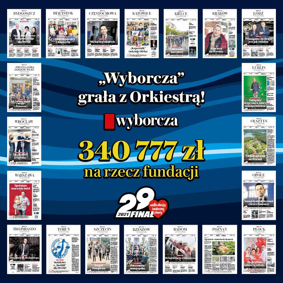 Bohaterowie pierwszych stron zebrali ponad 64 tys. złotych na rzecz WOŚP.