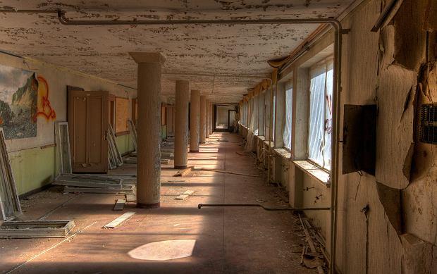 Wnętrze ośrodka przed renowacją