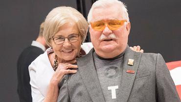 Lech Wałęsa z żoną