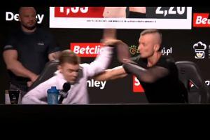 """Awantura na konferencji FAME MMA! Interweniowała ochrona. """"Bardzo łatwo cię podpalić"""" [WIDEO]"""