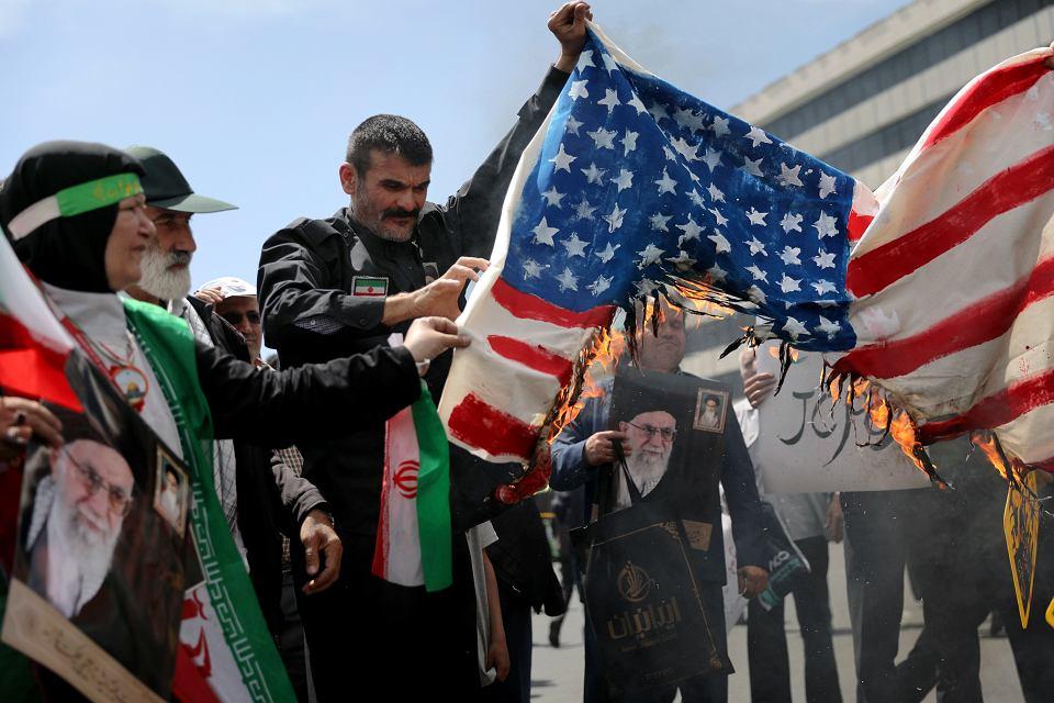 Antyamerykańska manifestacja w Teheranie, 10 maja 2019 r.