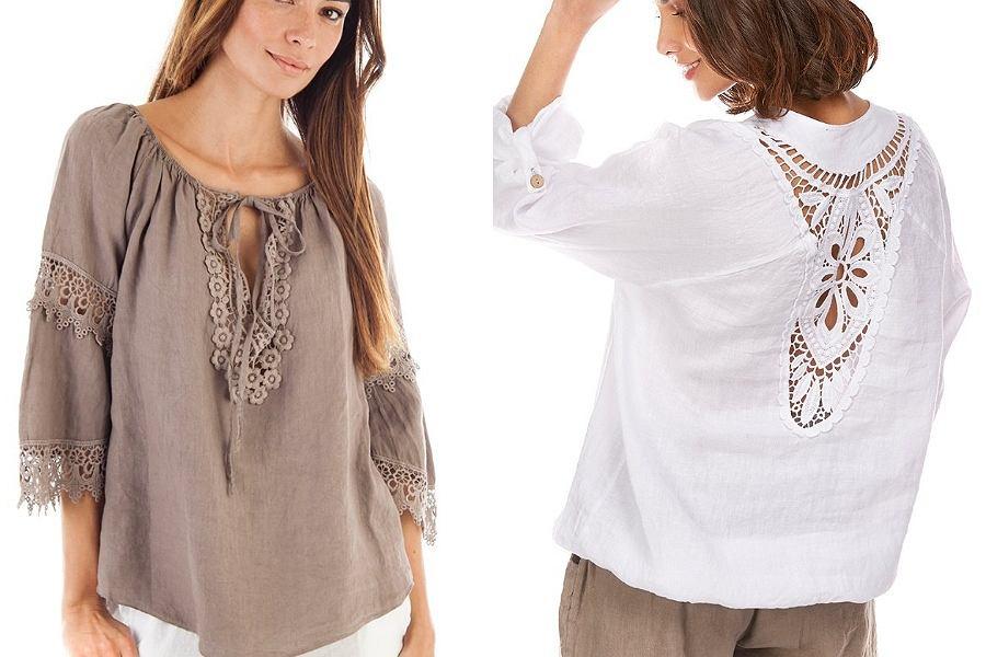 bluzki z lnu