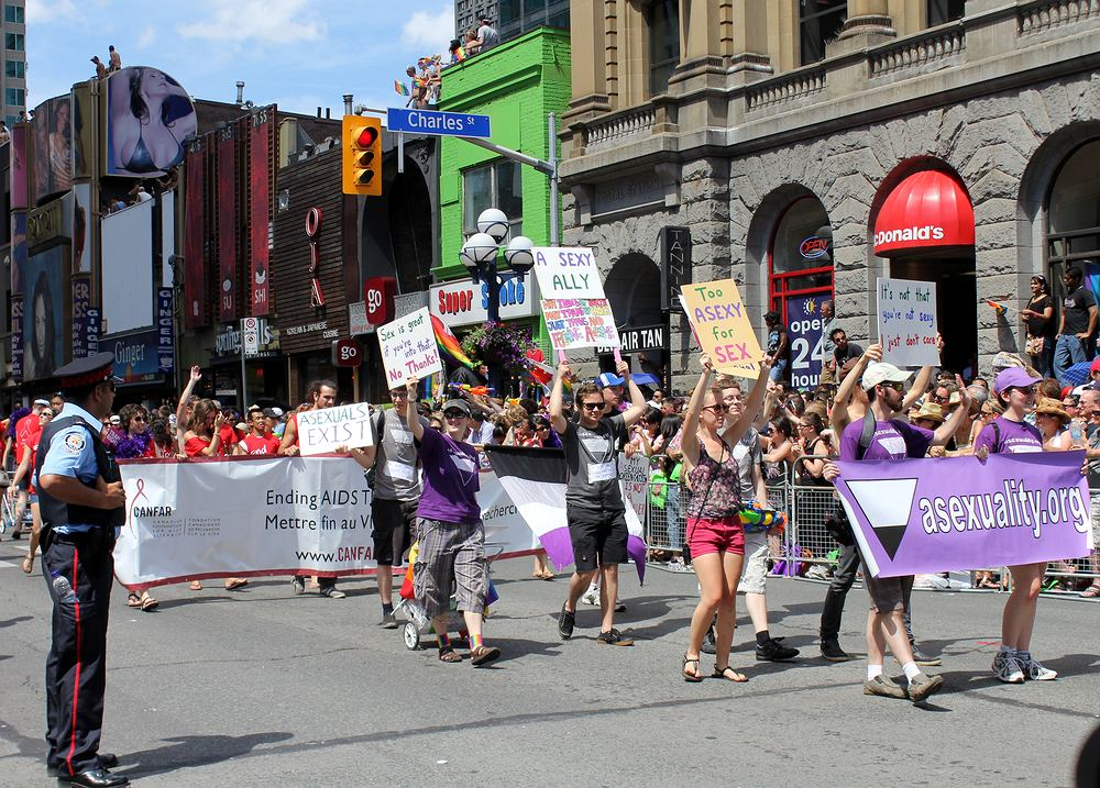 Marsz aseksualistów w Toronto, 2011 r., fot. Lucy / shutterstock.com