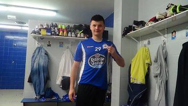 Marcin Marcinkowski w szatni Deportivo La Coruna