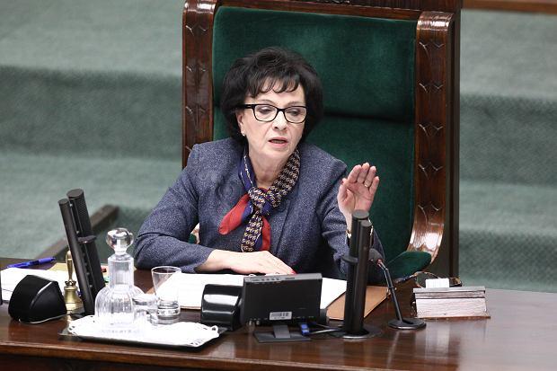 Wybory prezydenckie 2020. Elżbieta Witek podczas posiedzenia Sejmu