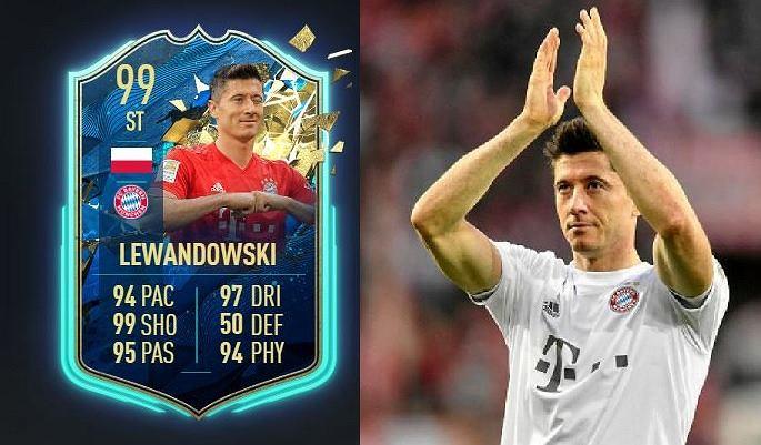 Robert Lewandowski ze swoją najlepszą kartą w historii serii gier FIFA
