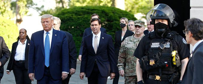 Donald Trump straszy użyciem wojska. CNN: Niepokój w Pentagonie