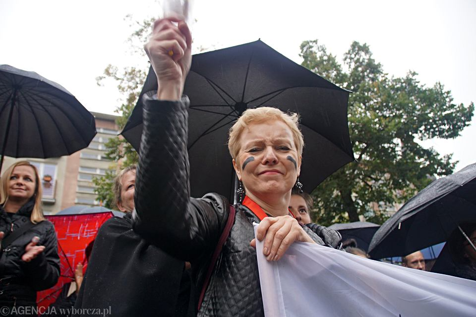 Zdjęcie numer 11 w galerii - Czarny protest w Zielonej Górze: