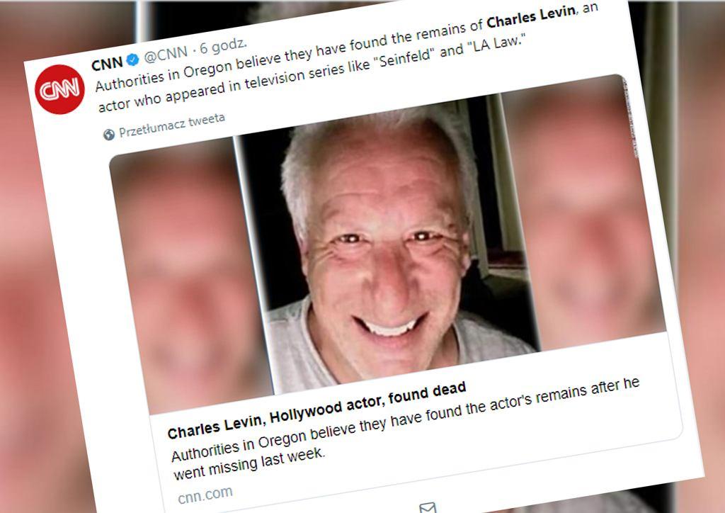 Charles Levin nie żyje? Służby znalazły ciało. Niewykluczone, że to 70-letni aktor