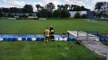 Woda z boiska RKS Okęcie Warszawa została odpompowana
