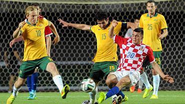 Chorwat Mateo Kovacic w meczu z Australią