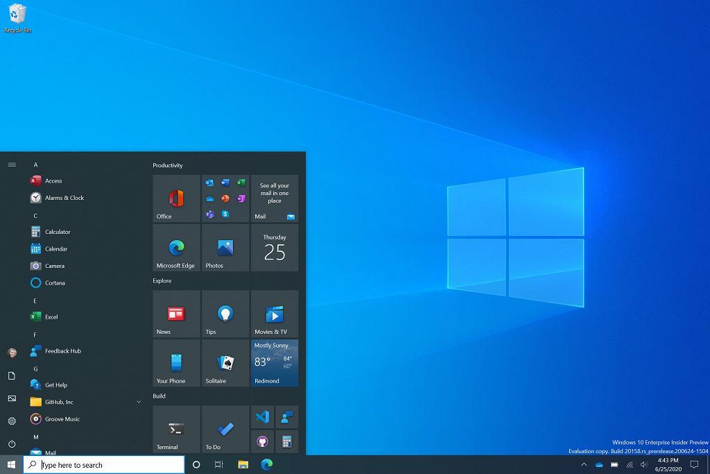 Nowy Menu Start w Windows 10