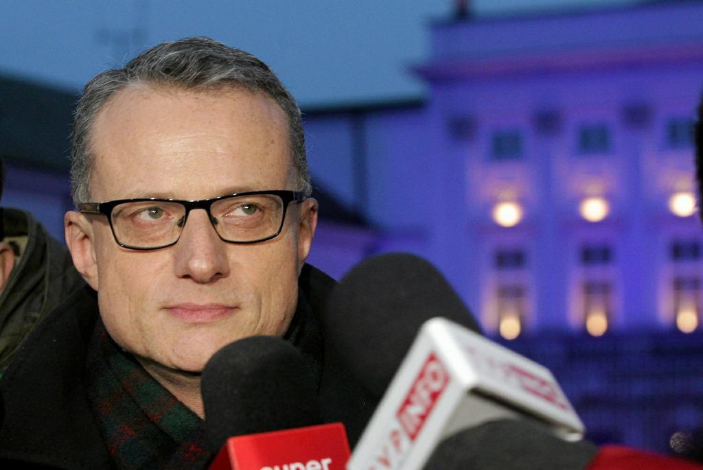 Marek Magierowski przed Pałacem Prezydenckim