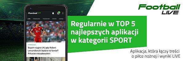 Pobierz Football LIVE! Aplikację łączącą najlepsze piłkarskie treści i wyniki LIVE