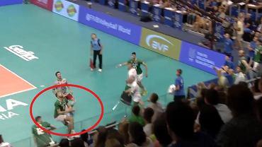 Interwencja Atanasowa z meczu Bułgaria - Brazylia