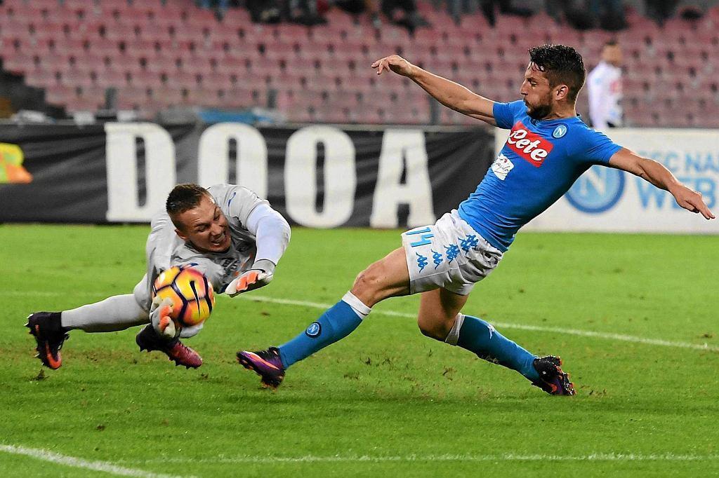 Łukasz Skorupski i Dries Mertens, najskuteczniejszy piłkarz Napoli. Czy w sezonie 2017/18 zostaną kolegami klubowymi?