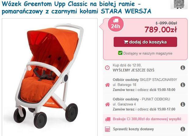 Wózek syna Marcina Mroczka