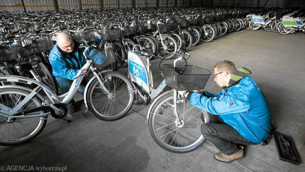 Przygotowania rowerów Veturilo do nowego sezonu
