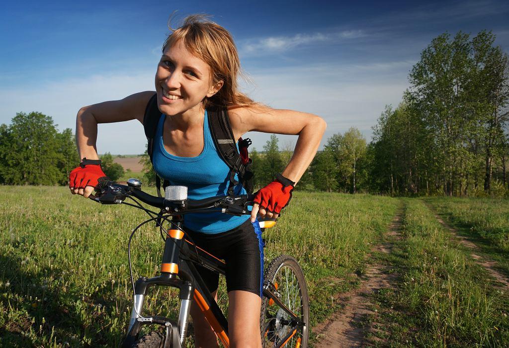 trening na rowerze