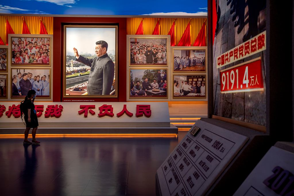 Wystawa poświęcona przewodniczącemu Xi w nowo otworzonym muzeum KPCh w Pekinie