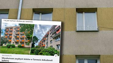 Dobudowali balkony do bloku