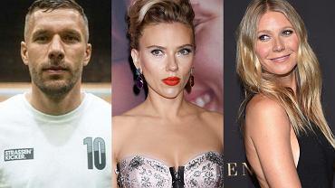 Lukas Podolski, Scarlett Johansson, Gwyneth Paltrow