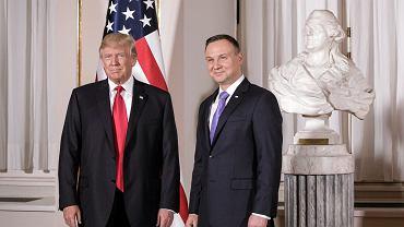 Prezydent USA Donald Trump i prezydent RP Andrzej Duda, 2017 r.