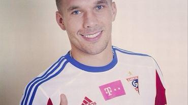 Lukas Podolski w koszulce Górnika