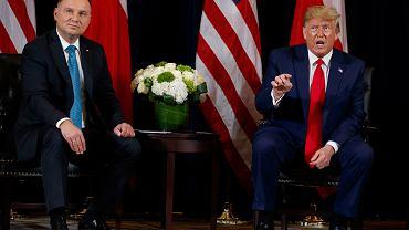 Andrzej Duda i Donald Trump, 23.09.2019 r.
