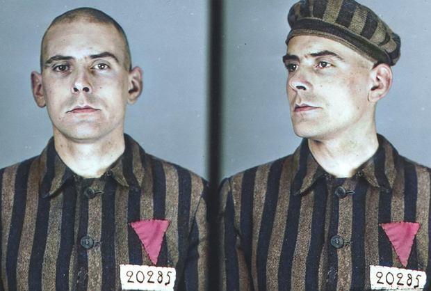 Walter Degen (ur. w 1909 r.), ślusarz z Morchingen (dziś Morhange w północnej Francji), został przywieziony do obozu w Auschwitz transportem 29 sierpnia 1941 r. Został zarejestrowany zarówno jako więzień polityczny, jak i homoseksualista